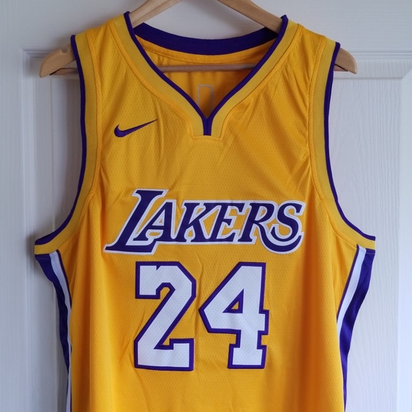 08538f1ff KOBE BRYANT  24 LA LAKERS RETIREMENT JERSEY